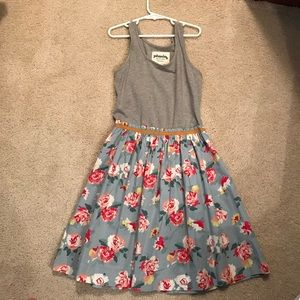 Johnnie Boden Girl's Floral and grey dress!